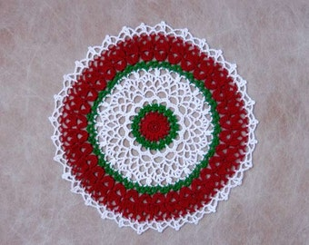 Christmas Holiday Lace Crochet Doily, Table Decor, New Festive Decoration, On Sale