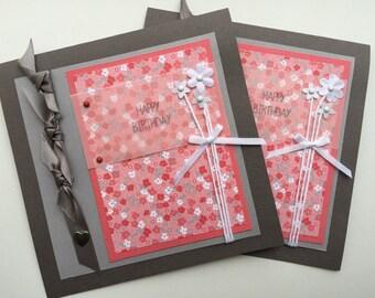 Floral Birthday Card - Woman Birthday Card - Girl Birthday Card