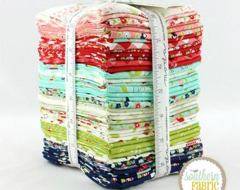 "Vintage Picnic - Fat Quarter  Bundle - 40 - 18""x21"" Cuts - Bonnie and Camille - Moda Quilt Fabric"
