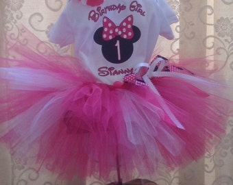 Minnie Mouse Birthday, Minnie Mouse 1st Birthday, Minnie Mouse Tutu Outfit, Minnie Mouse Birthday Girl with Name