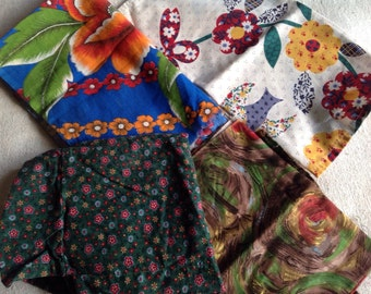 Vintage Fabrics Cotton Panels Floral Textiles Country Cottage Decor French Furnishings Supplies