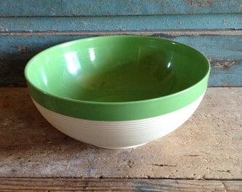 Green Raffiaware Serving Bowl