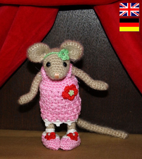 Amigurumi MOUSE - FEMALE crochet pattern