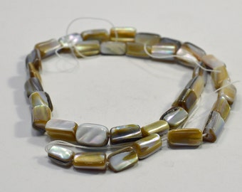 "Black lip shell tubes, natural, 16"" strand - #1640"
