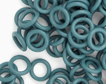 Rubber Rings: Turquoise, 4mm - #1112