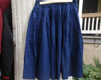 Bobbie Brooks Pleated Sailor Skirt Girl's Navy Blue Vintage at Quilted Nest