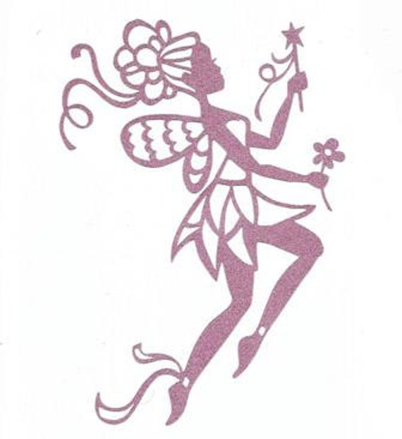 Fancy Spring Fairy Silhouette