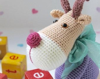 PDF Pattern for Rosie & Reggie Reindeer  - Crochet Amigurumi Pattern Reindeer Christmas Decoration