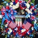 XL Patriotic Flag Day Memorial Day 4th of July Wreath