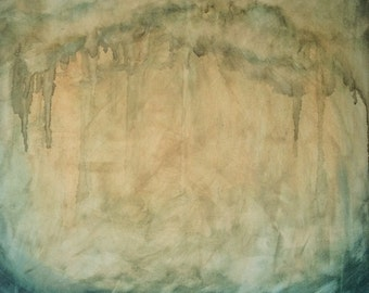 Large Ocean Watercolor Painting on Canvas Original Art Painting Watercolor on Canvas Art ocean Landscape Watercolor Canvas wall art