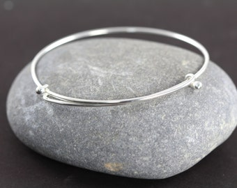 Bangle Bracelet 925 Sterling Silver Wholesale Bangles Bulk Adjustable Expandable up to 8 inches