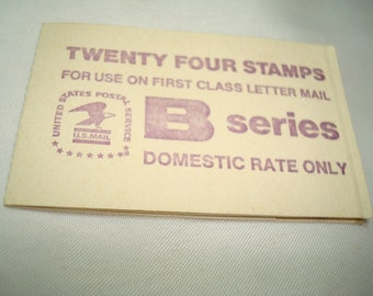 Vintage B Series First Class Letter Postage Stamps.