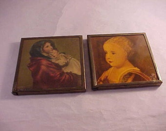 Miniature Brass Framed Prints Wall Decor