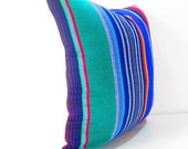 Tribal Pillows 20 Inch cover Aztec Mexican Ethnic Red Throw Boho Chic Decor Global Geometric Striped Purple red black orange green white