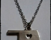 Silver or Gold Oklahoma State Charm Necklace