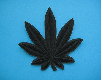Iron-on Embroidered Patch Cannabis 3.25 inch