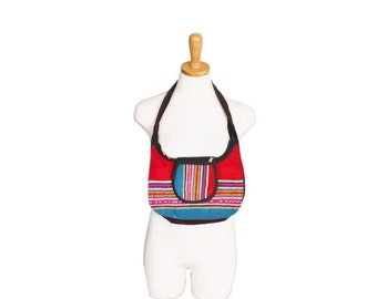 50% half off sale // Vitage 80s Mexican Blanket Style Small Purse