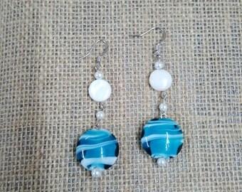 Ocean. Earrings