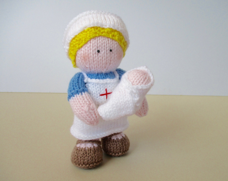 Knitting Pattern For Nurse Doll : Nurse Wendy doll knitting pattern