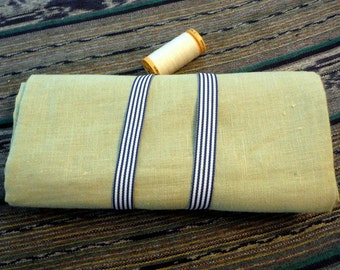 Pure LINEN fabric Celery Green ecofriendly sewing supplies home decor crafts  from MyGypsyCottage on Etsy