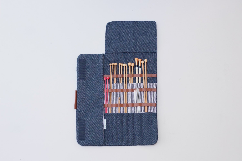 Knitting Needle Organizer : Knitting needle case long organizer straight