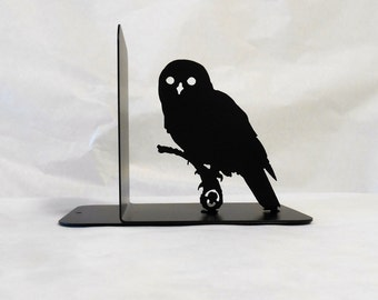Single Metal Bookend, Movies, Books, Organizer, Metal Art, Shelf Decor, Owl Decor