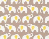 1 Yard Organic FLANNEL Fabric - Cloud9 Flannel - Elephants Gray