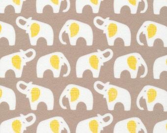 Organic FLANNEL Fabric - Cloud9 Flannel - Elephants Gray
