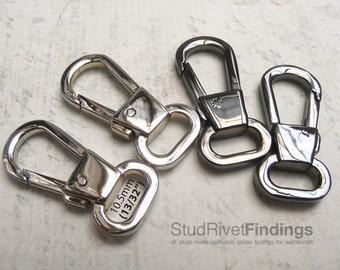 2pcs 33x14mm ZINC alloy push gate hook Swivel clasps hook For Bag, Purse Strap