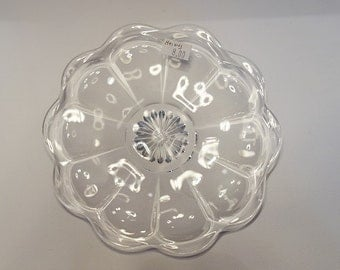 Vintage Heisey Clear Glass Plate