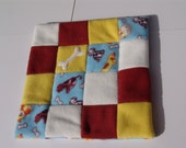 XS Fleece dog blanket - dogs and bones on light blue