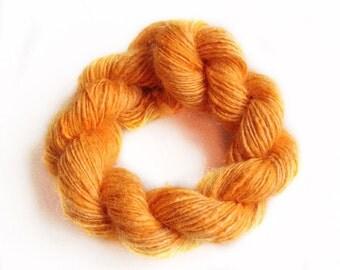 Handdyed and handspun tussah silk - Citrus - 10gr 60m