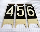 Three Vintage Cash Register Numbers, Numbers 4, 5, 6, Display Numbers, Metal Numbers, Cash Register Flags