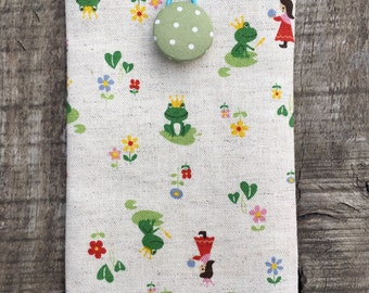 Prince Frog/ iPhone 7 Plus Padded Sleeve/Handmade iphone padded Sleeve/ Samsung Galaxy Note Case