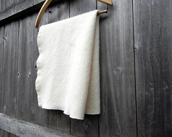 """100% Pure Wool  Puddle Pad Changing Mat Puddle Mat Travel Mat Baby Off White  Color 24"""" X 15"""""""
