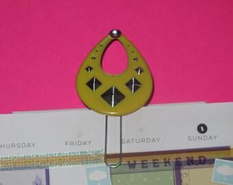 Yellow Teardrop - Paper Clip