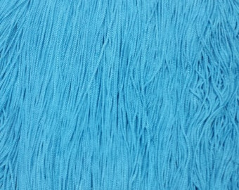 """Chainette Fringe 5"""" Turqoise Fabric Trim for flapper, Costumes, dancers, decor  10 yards"""