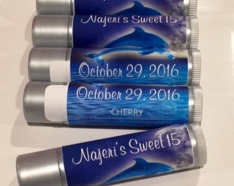 Event - Party Favors-Custom Designed Label Lip Balms