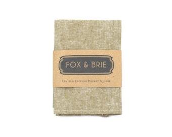 Natural Linen Chambray Pocket Square