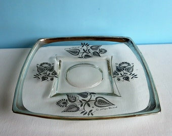 Georges Briard Silver Serving Plate - 'Forbidden Fruit' Pattern - Appetizer Plate