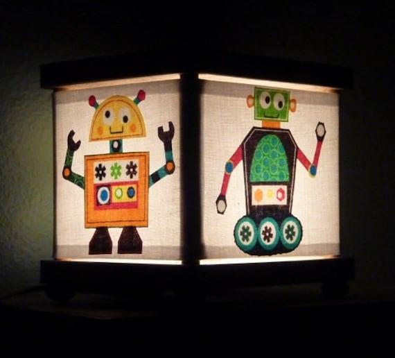 Robot night light decor robots room decoration for Robot room decor