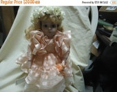 """Valentines Sale Vintage Wimbledon Doll Whitney 15"""" inches, 5009, with Stand and Papers,  collectable"""