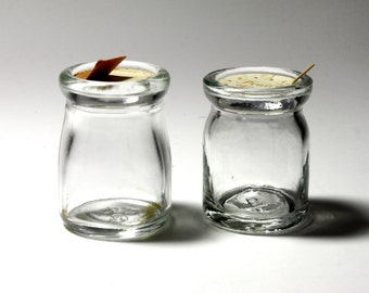 Vintage Glass Creamers with original tops - circa 1940's