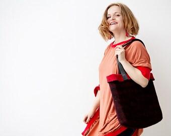 Felt bag, felt handbag, tote bag, Travel bag, Felted handbag, wool tote bag, Gift for her