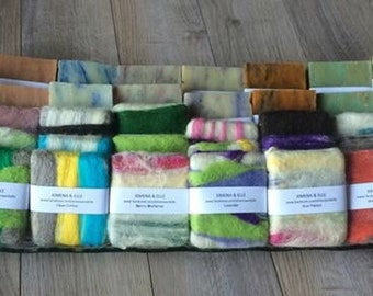 5 ALL NATURAL HANDMADE Felted soap