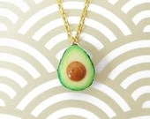 Avocado Necklace - Small Size Gold Chain