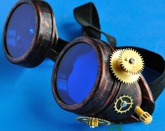 Steampunk Goggles Post Apocalypse Victorian Glasses Road Warrior Victorian Glasses diesel punk