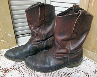 SALE Vintage Leather Cowboy Boots