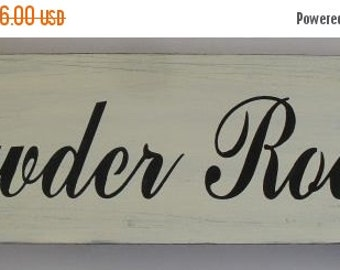 25% OFF TODAY Powder Room Sign 6 x 18