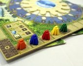 Tzolk'in board game 3D printed ziggurat score track markers